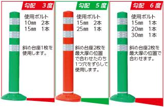 「PK-Ⅱ」」斜め台座 勾配3度、5度、6度